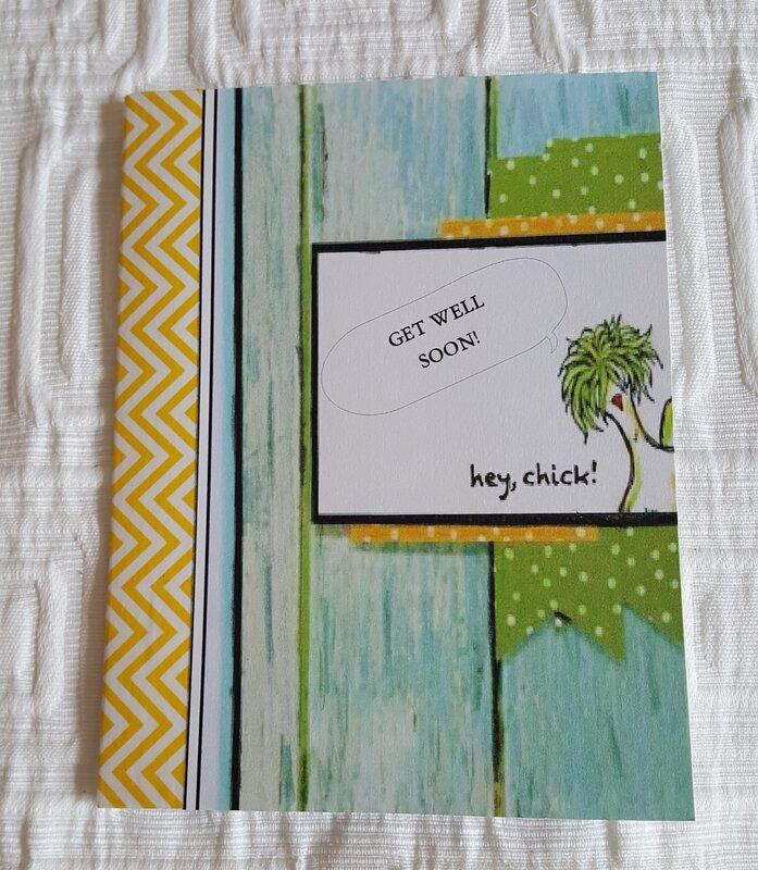 Get Well Card - Barn board Hey Chick