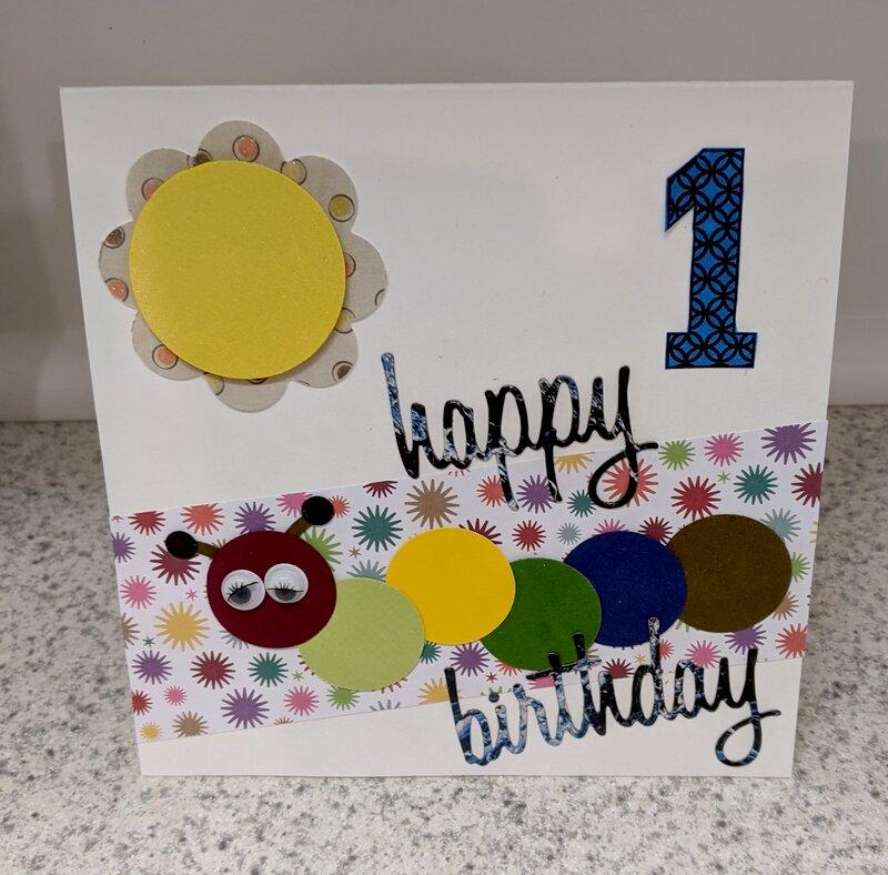 Happy 1st Birthday Inchworm Card