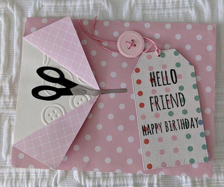 Birthday Sew Perfect Card