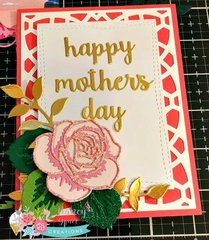Mother's Day Layered roses card
