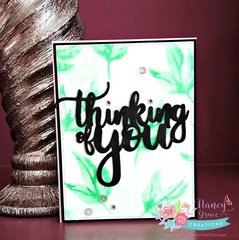 Thinking of You- faux water coloring