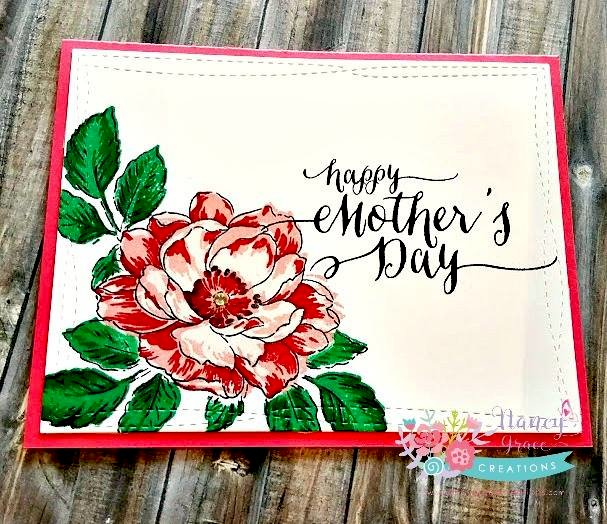 One Layer Card - Mother's Day