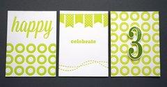 L Letterpress Birthday Project Life cards