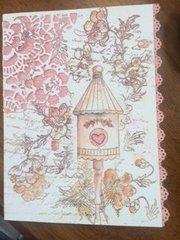 Birdhouse birthday card