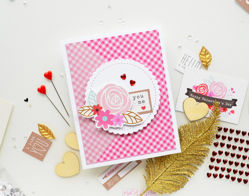 You and me love card