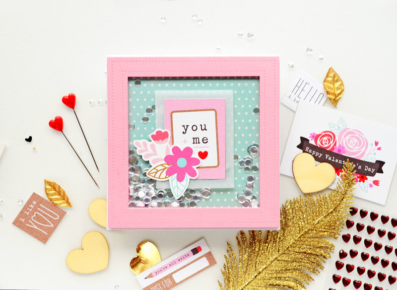 You and me shaker card