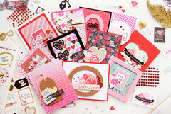 Set of Valentines cards
