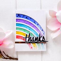 Rainbow thanks you card
