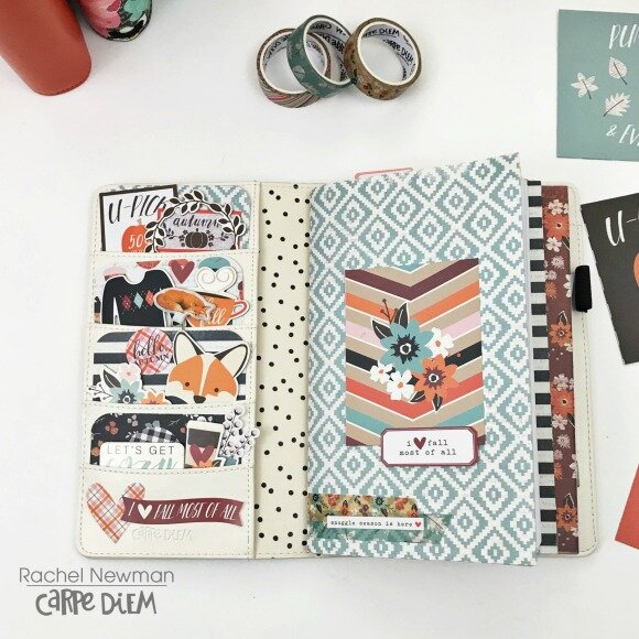 Fall Setup in my Carpe Diem Traveler's Notebook