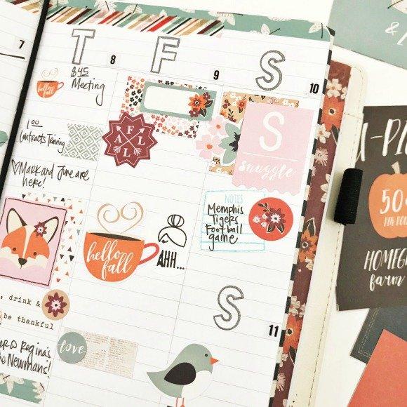 Fall Setup in my Carpe Diem Traveler's Notebook