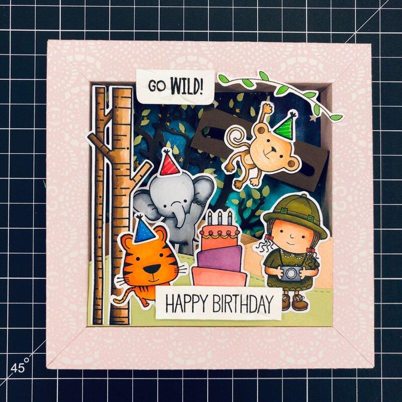 Birthday Shadow Box with Slider