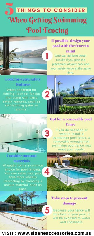 5 Things to Consider When Getting Swimming Pool Fencing