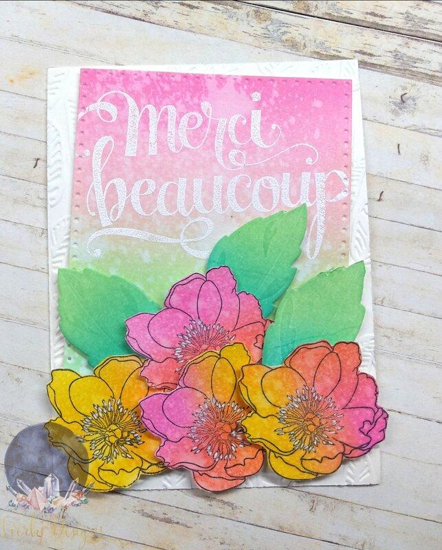 Merci Beaucoup Floral Card