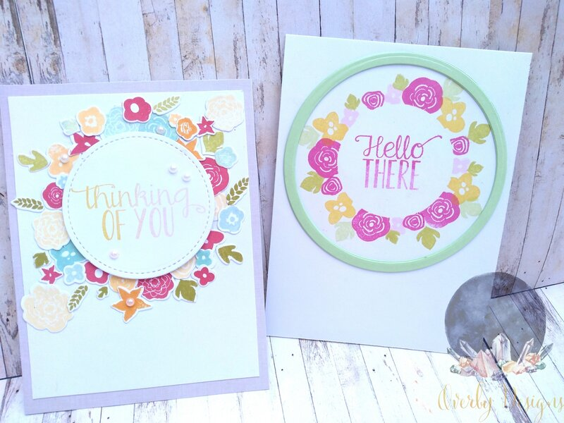 Floral Wreath Cards