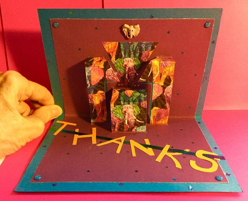 Pop Up Elephant-Theme Thank You Card