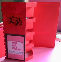 Four box pop-up Valentine (back of card)