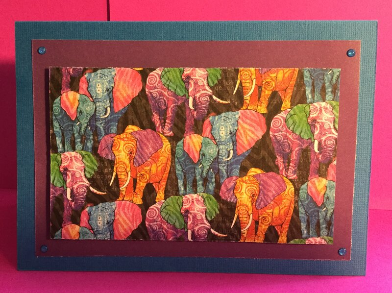 Pop Up Elephant-Theme Thank You Card