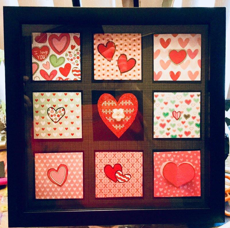 Valentine Heart Shadow Box