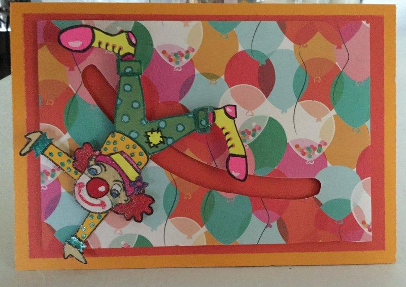 Clown Birthday Card (slider)