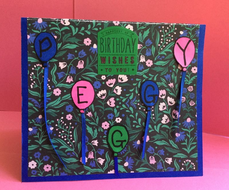 Pop Up and Twist Birthday Card (Front)