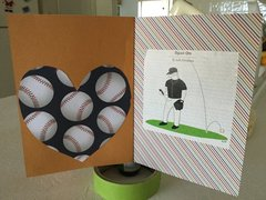 Speedy Recovery Baseball Themed Card With Spinning Baseball