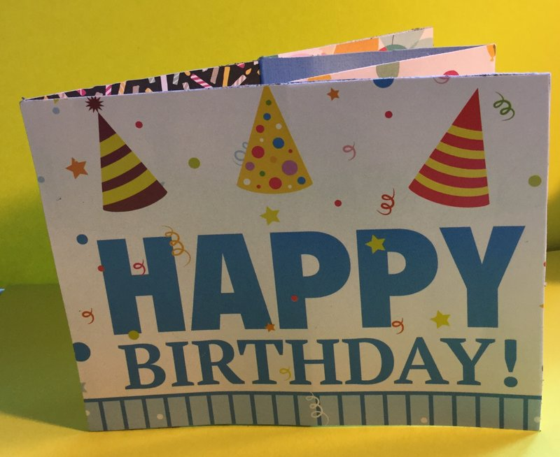 Stage Birthday Card - Front  of Card