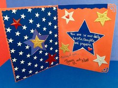 Spinning Star Military Card (Inside)