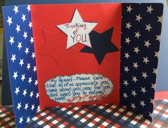 Inside of Military Appreciation Card