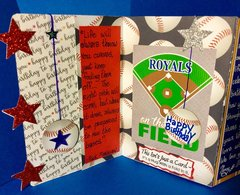 Longest Birthday Card Ever - Focused on KC Royals (First panel on left)