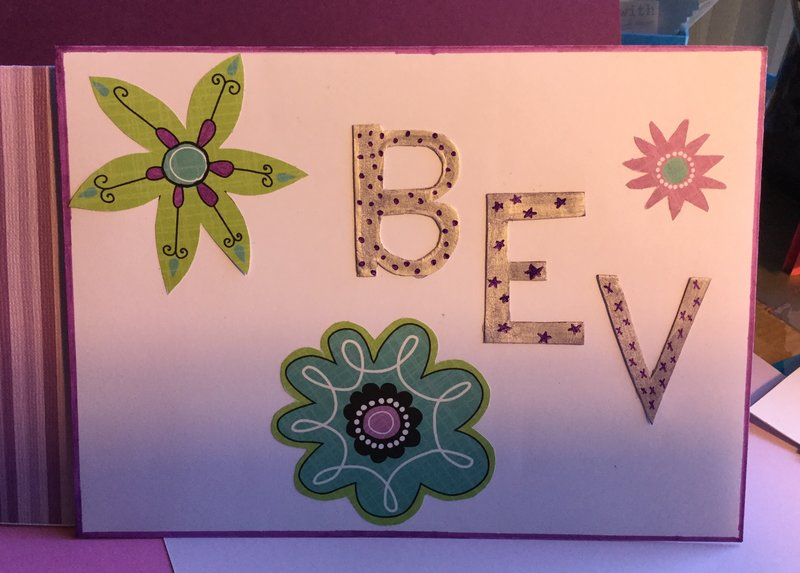 Envelope for Pop-up Purple Birthday Card