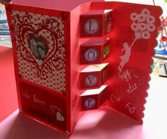 Four box pop-up Valentine (opened)