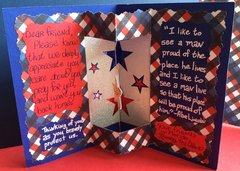 Inside of Military Appreciation Card, Spinning Star