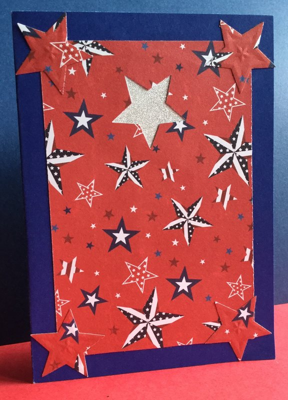 Front of Military Appreciation Card, Spinning Star