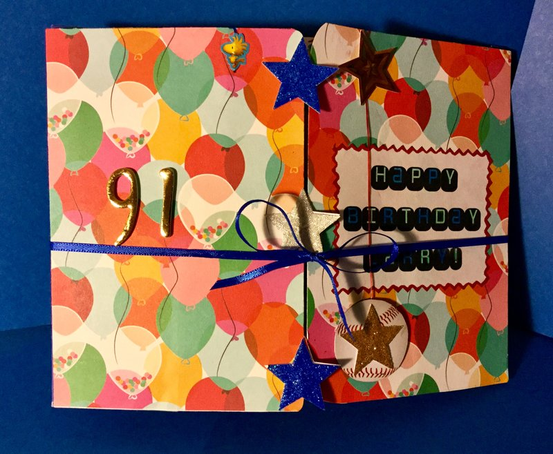 Longest Birthday Card Ever - FRONT of  Card