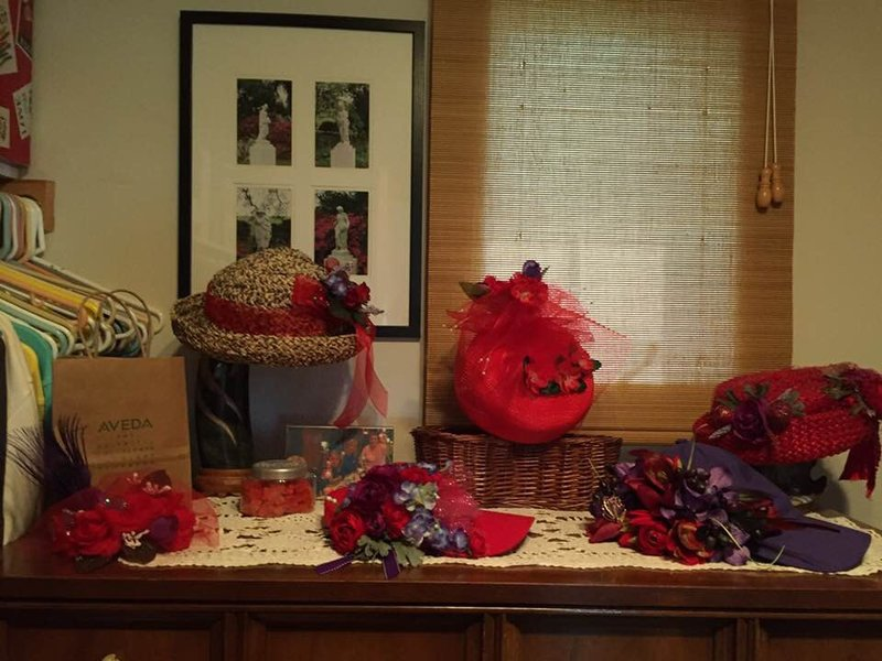 Red Hats I decorated