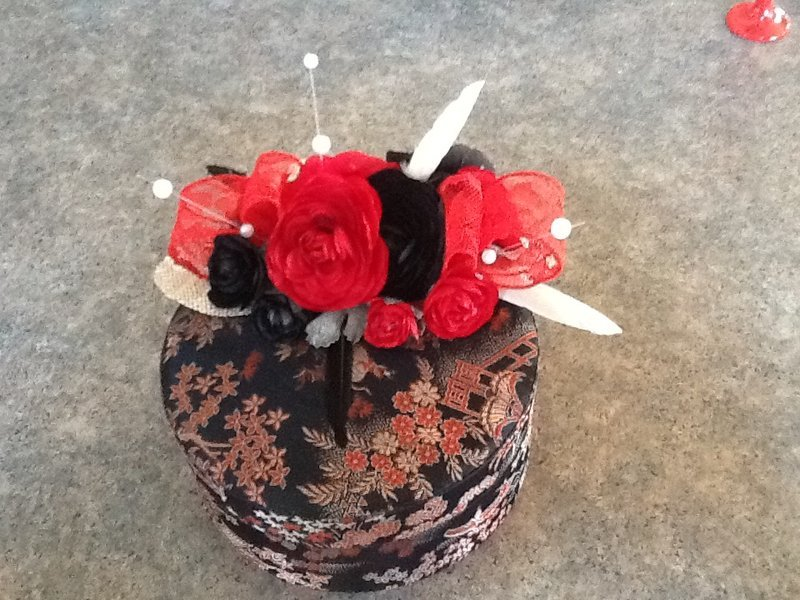I created this fancy box with candle as a door prize.