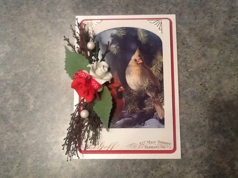 My Christmas Cardinal Card