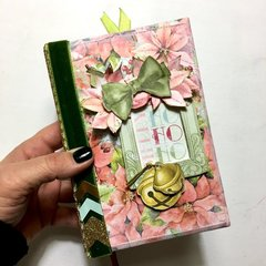 Carousel Christmas Altered Book