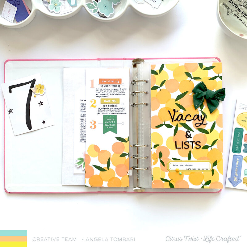 July Life Crafted Album Set Up