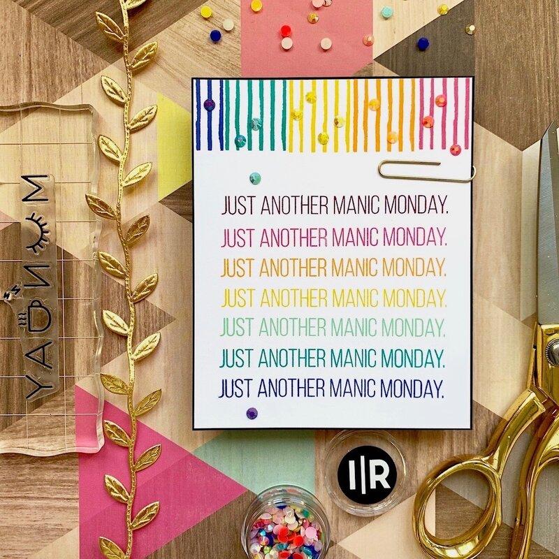 Manic Mondays card