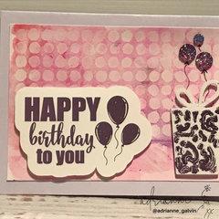 Happy Birthday - Gina K Birthday Essentials Sentiments & Iridescent Gelatos