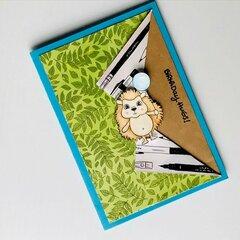 Super Cute Pop Up Hedgehog Card