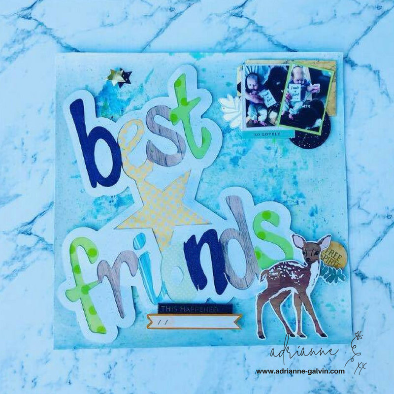 12 x 12 Scrapbook Layout #3 - Best Friends