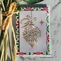Stunning Embossed Christmas Card