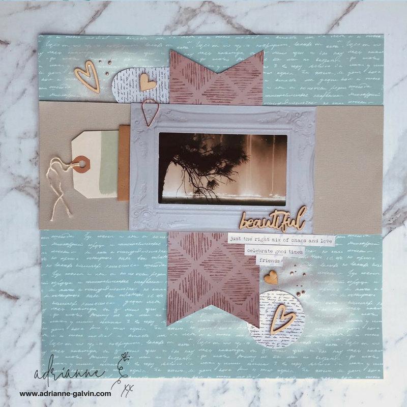 12 x 12 Scrapbook Layout - Beautiful