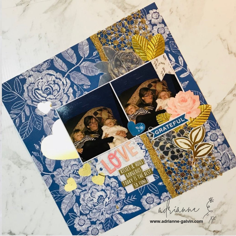12 x 12 Scrapbook Layout - Love