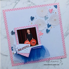 12 x 12 Scrapbook Layout (Grateful) - Jen Hadfield & Maggie Holmes