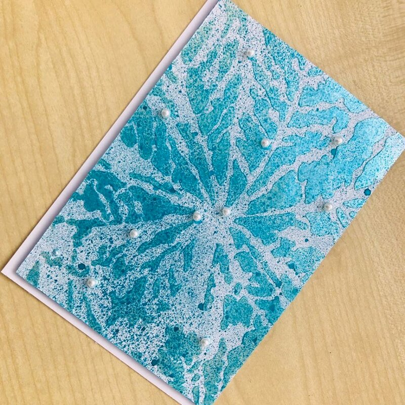 Icicle Stencil Christmas Card