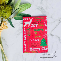 Fun & Simple Christmas Card - #10 HABH 400+ Charity Card Project