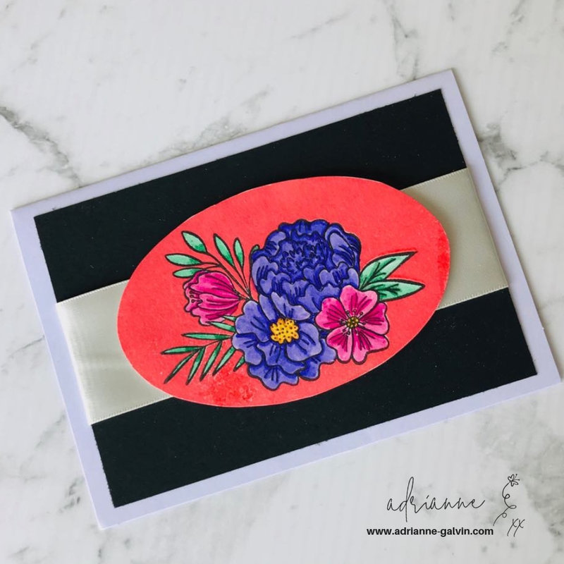 Floral and Ribbon Card - Healing A Broken Heart Charity Card Making Project #23